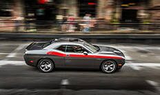 Dodge Challenger 2016: franjas laterales tradicionales