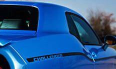 Dodge Challenger 2016: franjas laterales en la carrocería