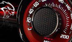 Dodge Challenger SRT 2016: velocímetro