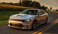 Vista delantera del Dodge Charger 2016