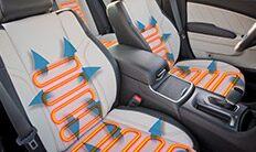 Asientos delanteros del Dodge Charger 2016