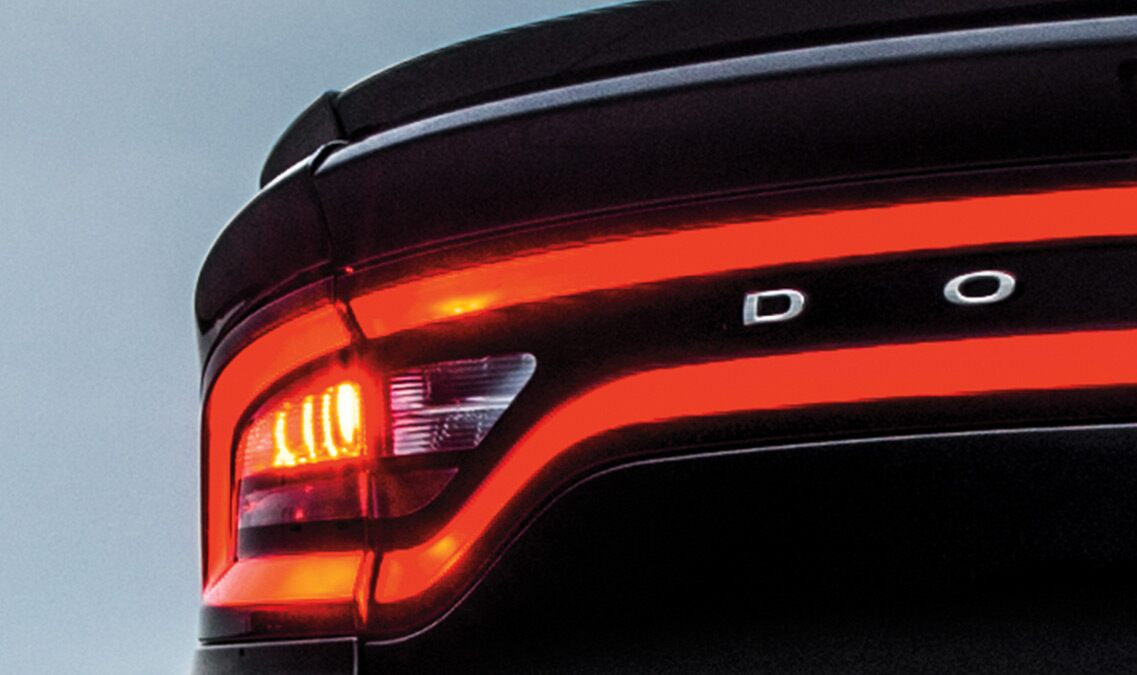 Luces traseras del Dodge Charger SE 2016