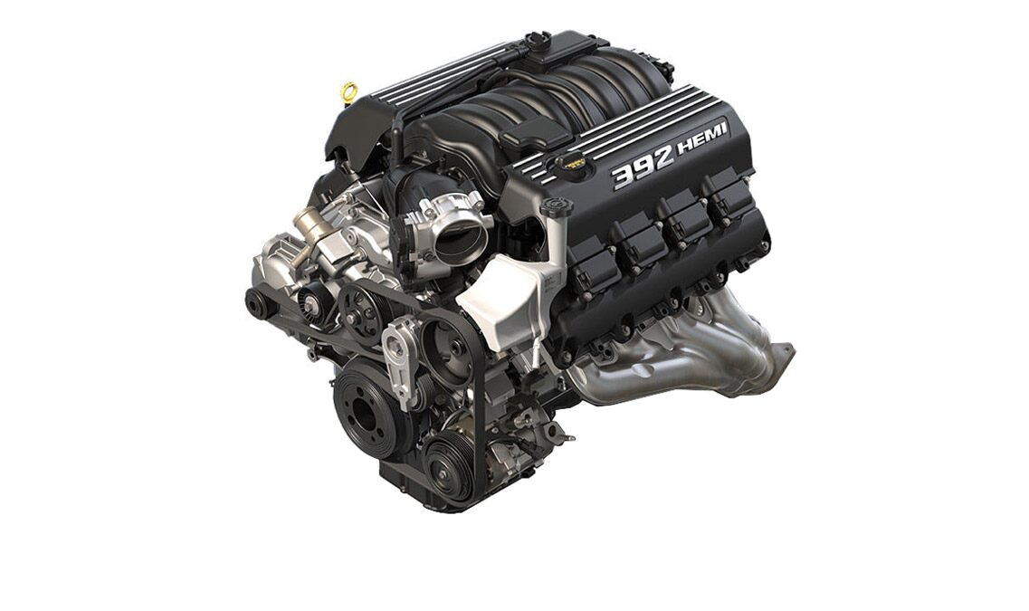Motor V8 del Dodge Charger SRT 392 2016